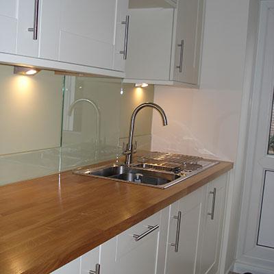 Glass Splashback installed in Kitchen in Horsham