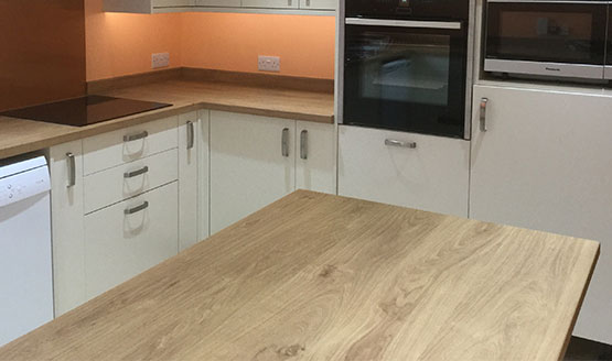 Kitchen worktop installation and integrated cooker Crawley, West Sussex