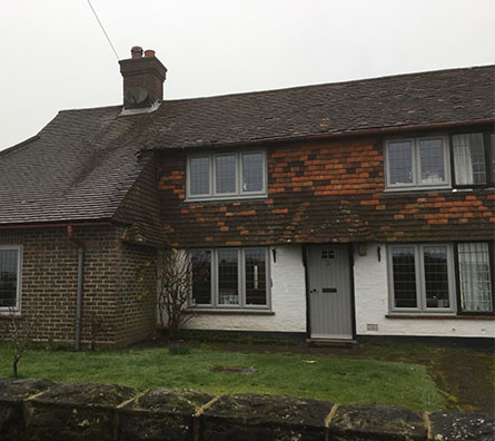 House with matching new windows and doors in Horsham, West Sussex