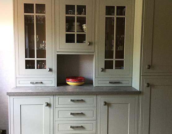 Pastel green kitchen installed in Crawley, West Sussex