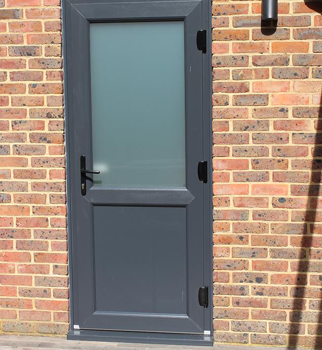 Grey uPVC Door in Crawley, West Sussex insta;;ed by Facelift