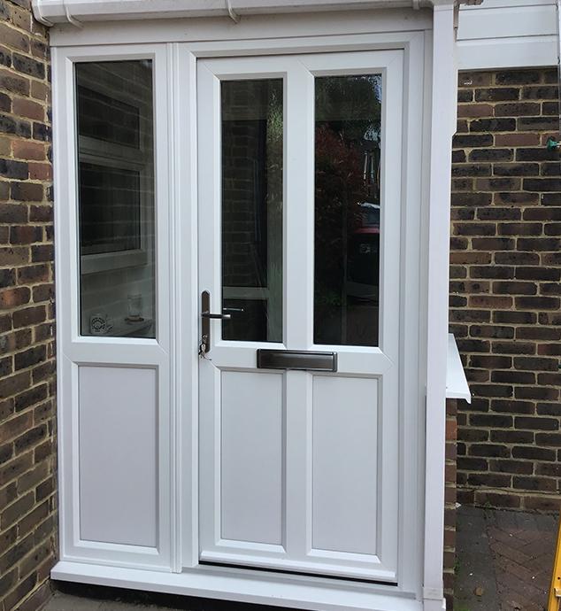 New White uPVC Door in Horsham, West Sussex