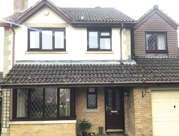 Casement windows in Horsham on detached home with leaded bars