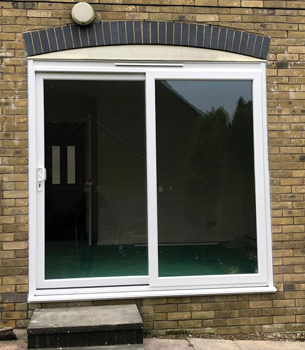 Large sliding patio doors installed by Facelift in Horsham