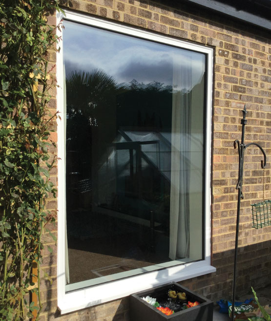 Large aluminium window installed in Horsham by Facelift Home Improvements