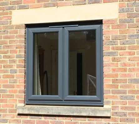 French Windows Horsham West Sussex, Grey Aluminium Frames