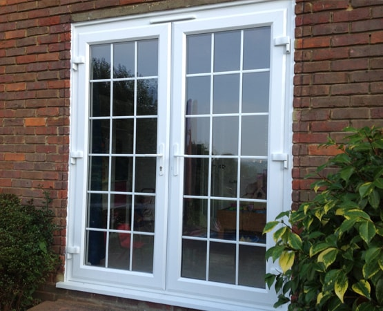 Large French Doors in Horsham, West Sussex with Georgian Bars